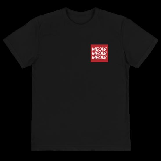 meow meow meow eco t-shirt front black
