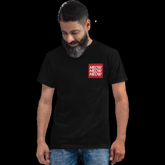 meow meow meow eco t-shirt man black