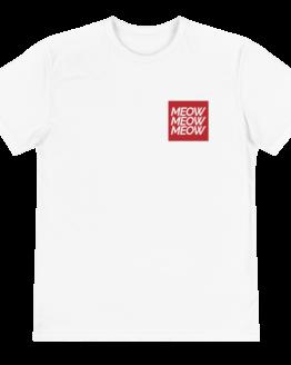 meow meow meow eco t-shirt front white