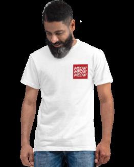 meow meow meow eco t-shirt man white