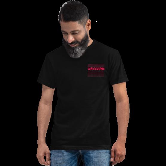 purrfect cat eco t-shirt man black