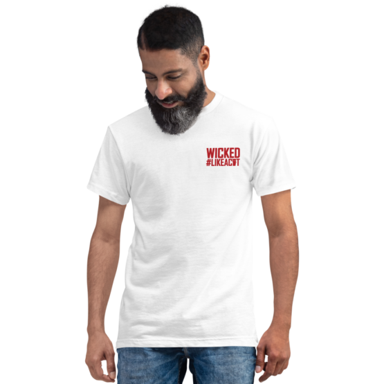 wicked like a cat eco t-shirt man white