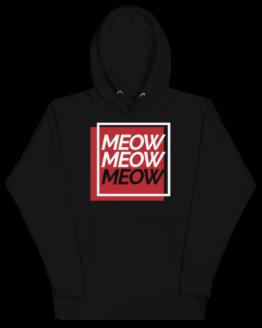 always be meowing premium hoodie front black