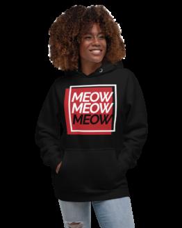 always be meowing premium hoodie woman black
