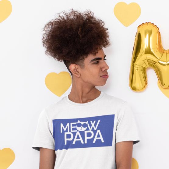 meow papa eco t-shirt insta