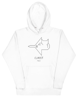 classy cat hoodie