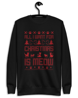 all i want for christmas is meow ugly christmas sweater