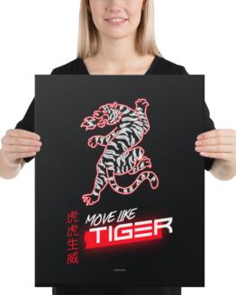 move like tiger canvas 16x20 woman