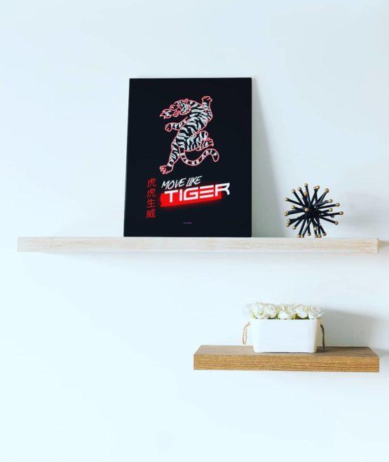move like tiger canvas 16x20 wall decor