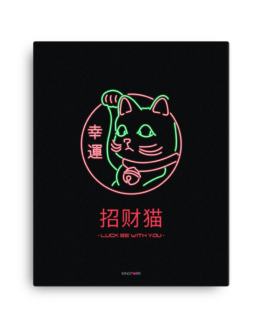 lucky cat canvas 16x20 wall