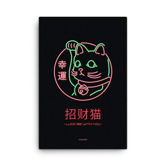 lucky cat canvas 24x36 wall