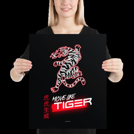 move like tiger poster 16x20 woman