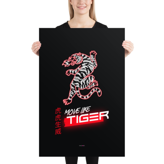 move like tiger poster 24x36 woman