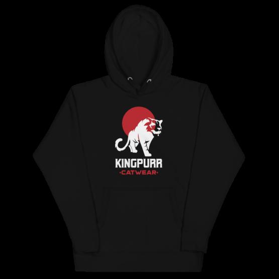 kingpurr catwear premium hoodie black flat