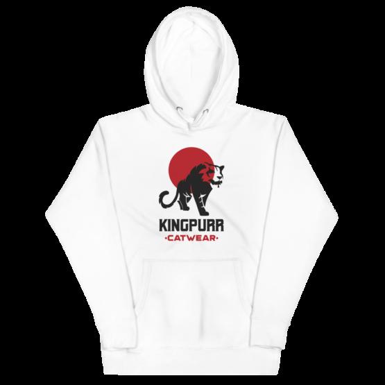 kingpurr catwear unisex white hoodie flat