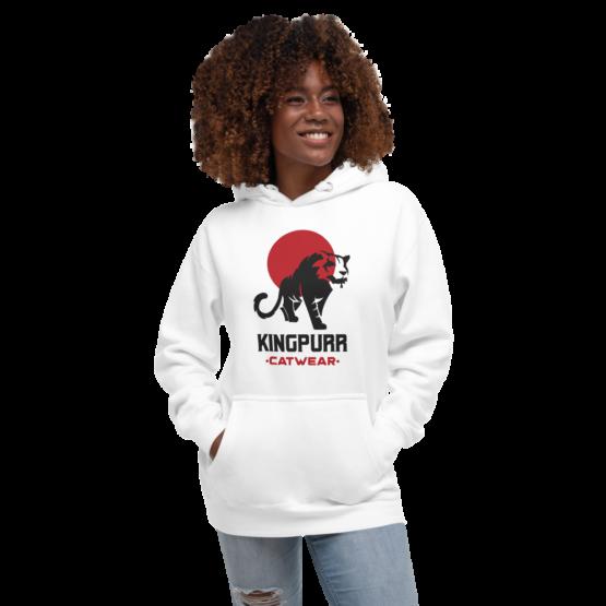 kingpurr catwear premium hoodie white woman