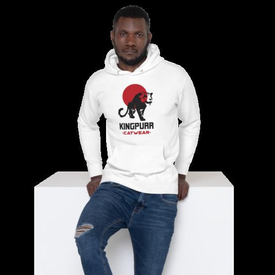 kingpurr catwear premium hoodie white man