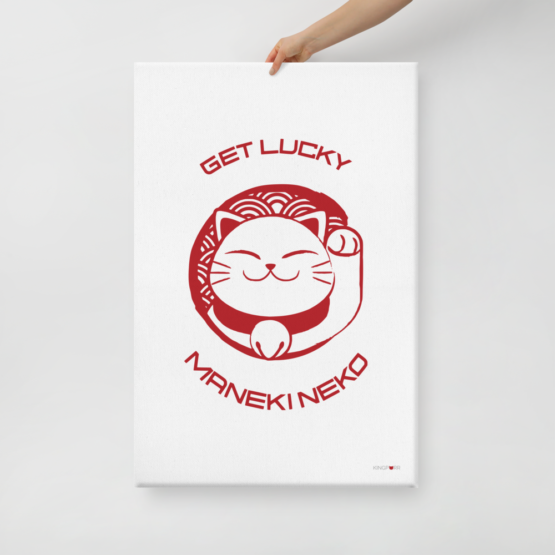 prosperity cat canvas 24x36 hand