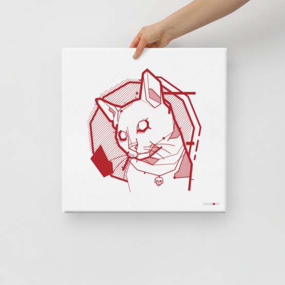 the feline canvas held