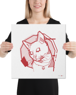 the feline canvas woman
