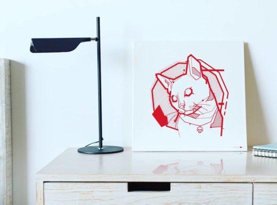 the feline canvas print by kingpurr room
