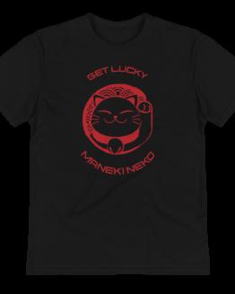 prosperity cat eco t-shirt wrinkled black