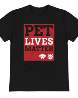pet lives matter eco t-shirt black wrinkled