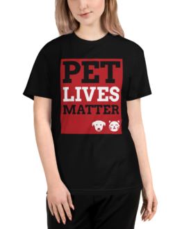 pet lives matter eco t-shirt woman black