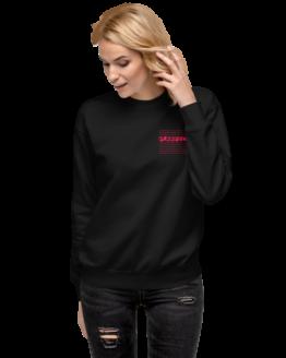 purrfect fleece pullover woman black