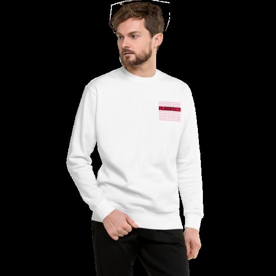 purrfect fleece pullover man white