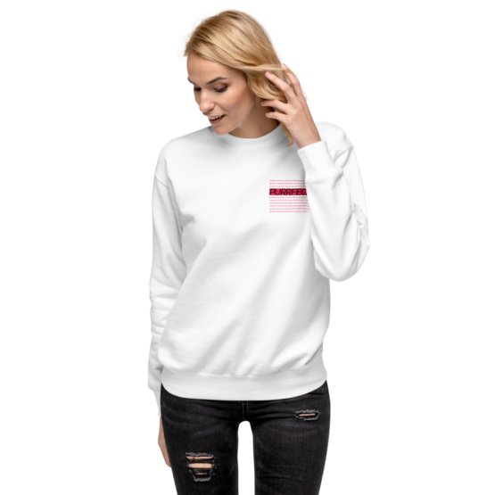 purrfect fleece pullover woman white