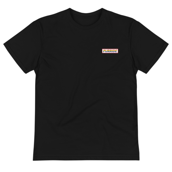 cat purride eco t-shirt wrinkled black