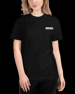 cat purride eco t-shirt woman black