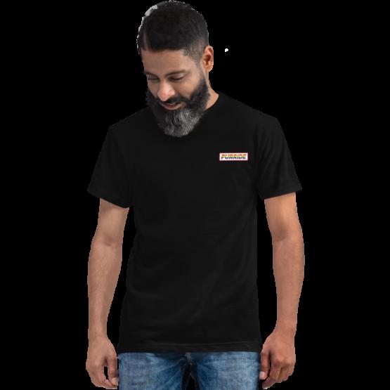 cat purride eco t-shirt man black