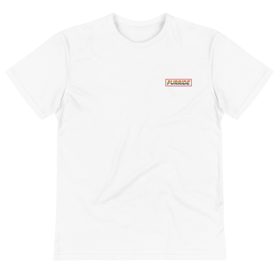 cat purride eco t-shirt wrinkled white