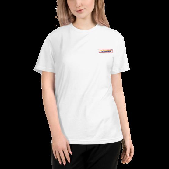 cat purride eco t-shirt woman white