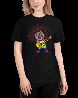 rock n' meow eco t-shirt woman black