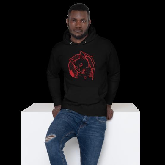 the feline premium hoodie man black