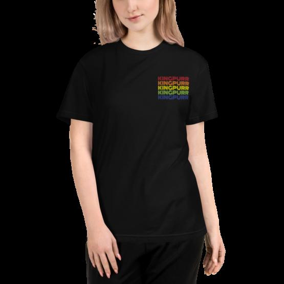 kingpurr pride eco t-shirt woman black