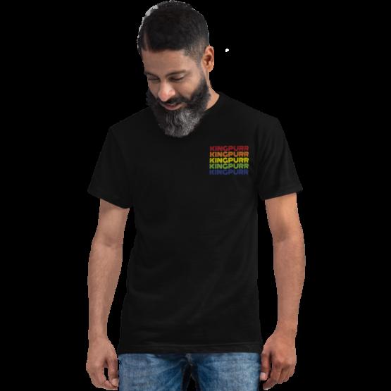 kingpurr pride eco t-shirt man black