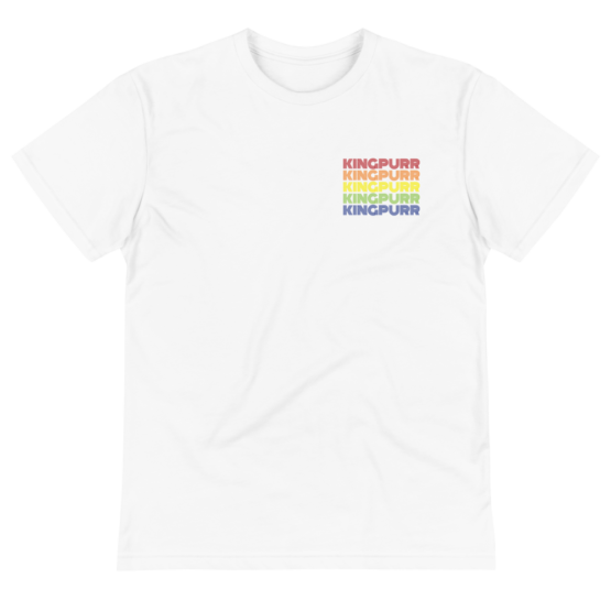 kingpurr pride eco t-shirt wrinkled white