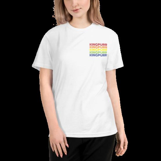 kingpurr pride eco t-shirt woman white