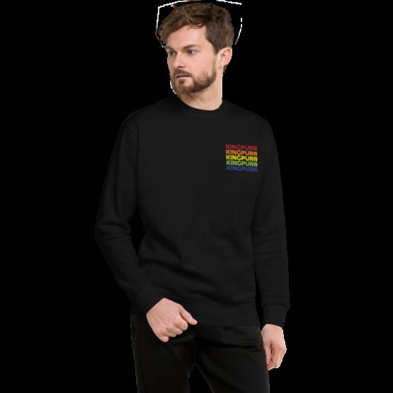 kingpurr pride fleece pullover man black