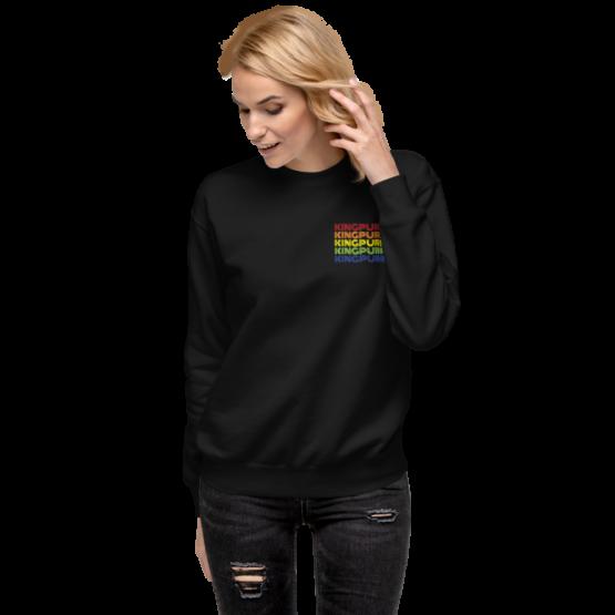 kingpurr pride fleece pullover woman black