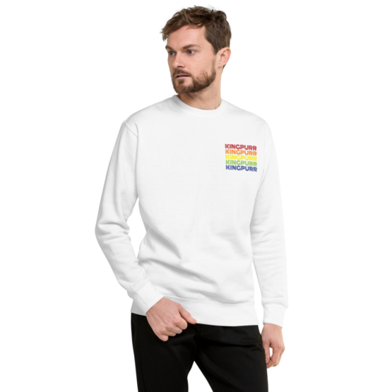 kingpurr pride fleece pullover man white