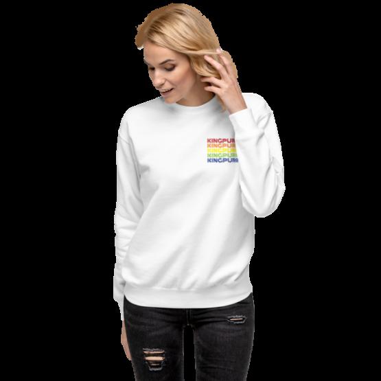 kingpurr pride fleece pullover woman white