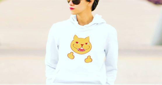 rude cat premium hoodie insta
