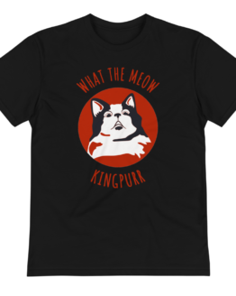 what the meow eco t-shirt wrinkled black