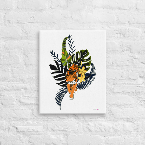 tiger in nature canvas print 16x20 front