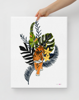 tiger in nature canvas print 16x20 hold